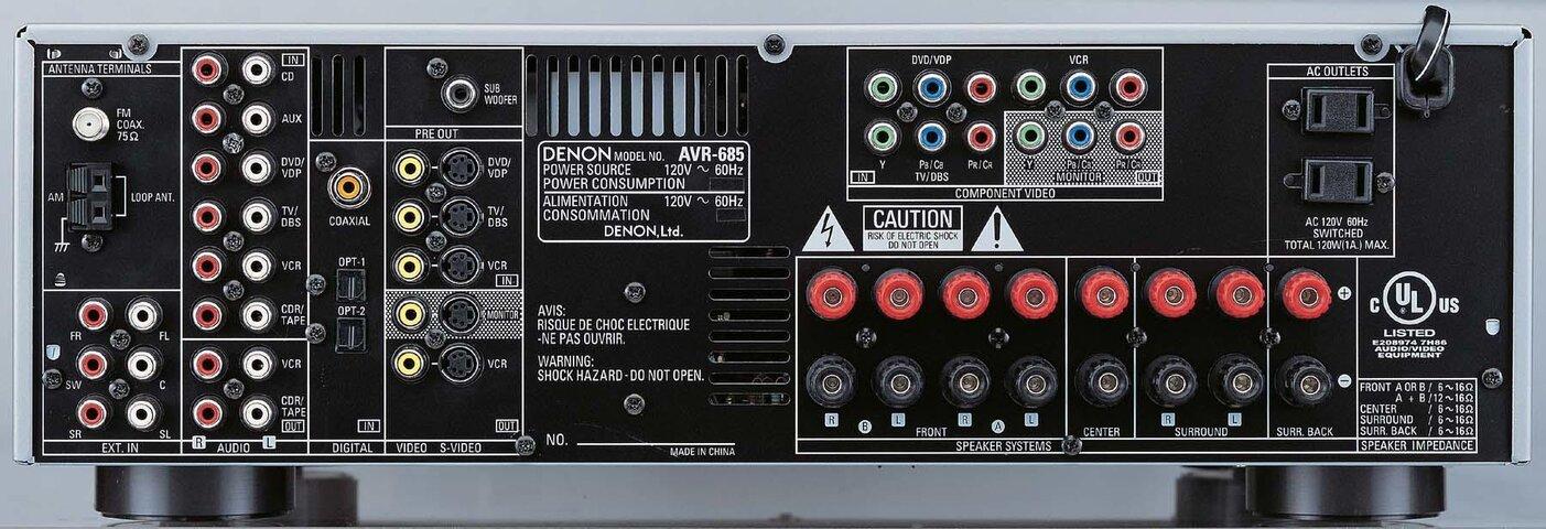 Denon - AVR684 - Back.jpg